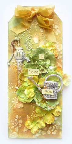 I love You- Prima Tag - Scrapbook.com