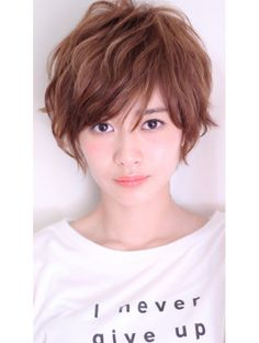 Pin on 여성컷 Medium Short Hair, Short Hair With Bangs, Short Hair Cuts, Medium Hair Styles, Short Hair Styles, Curly Short, Short Hairstyles For Women, Curled Hairstyles, Diy Hairstyles