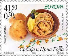 Serbia and Montenegro - Europa 2005 Ex Yougoslavie, Serbia And Montenegro, Food Stamps, Stamp Collecting, Postage Stamps, Snack Recipes, Chips, Food And Drink, Mail Art