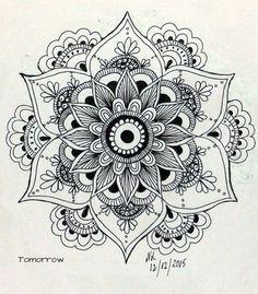 Drawing Of Love Doodles Zentangle Patterns 48 Super Ideas Mandala Art, Mandala Design, Mandalas Painting, Mandalas Drawing, Mandala Pattern, Zentangle Patterns, Zentangles, Henna Mandala, Sunflower Mandala Tattoo
