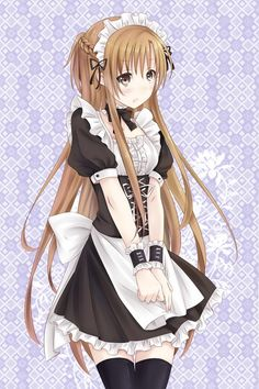 I don't know why, but I really like the look of anime maid outfits. They're just really cute,