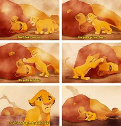 Mufasa's death : the saddest disney moment of all times :'(