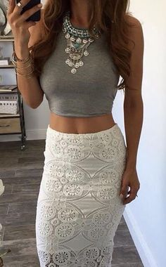 Greys and Whites with the right accessories can make for a perfect dinner. #dateNight #selfie