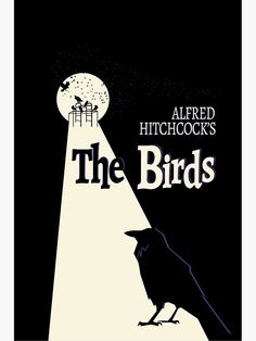 'Hitchcocks The Birds' Metal Print by BeehiveDezines Classic Horror Movies, Classic Films, The Birds Movie, Alfred Hitchcock The Birds, Tv Movie, Bird Quotes, Bird Poster, Travel Music, Quotes By Famous People
