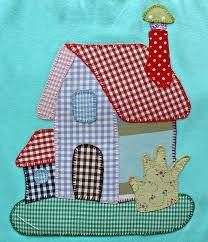 Resultado de imagem para patchwork Baby Quilt Patterns, Applique Patterns, Applique Quilts, Applique Designs, Quilting Designs, House Quilt Block, House Quilts, Quilt Blocks, Mini Quilts