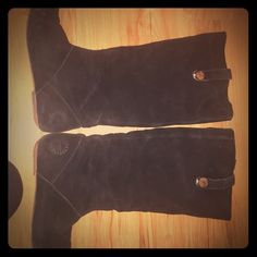 Ugg suede boots Great condition, worn only a few times! Already has protective spray on them. UGG Shoes Over the Knee Boots