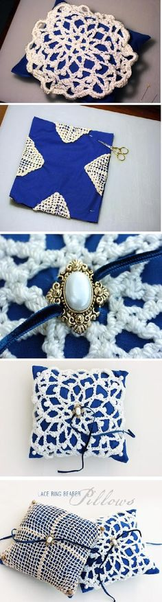 DIY : Ring bearer pillow...I would also do this for chair, sofa or bed pillows