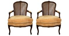 French-Style Cane‑Back Armchairs, Pair $1,199 One King's Way