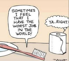 Does a toothbrush have the worst job in the world?