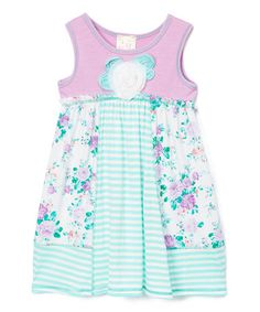 Loving this Pink Vanilla Mint & Ivory Floral Babydoll Tank Dress - Toddler & Girls on Cute Outfits For Kids, Cute Kids, Toddler Girl Dresses, Toddler Girls, Tank Dress, Soft Fabrics, Gingham, Baby Dolls, To My Daughter
