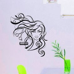 Wall Decals Hairdressing Hair Beauty Salon Decal от WisdomDecals
