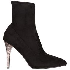 TRUE BLACK STRETCH GLAM SUEDE Get Glam, Nina Shoes, Roxy, Mini Skirts, Slip On, Skinny Jeans, Glamour, Pairs, Ankle