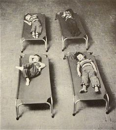 naptime cots in the creative playthings catalog, 1956
