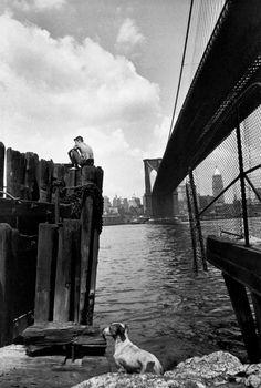 Henri Cartier-Bresson - New York City. Brooklyn Bridge. 1947.