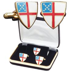 B-42-C Episcopal Shield Cuff Link Set with Tie Tack Pin and Lapel Pin - C2113OCIC5D - Brooches & Pins  #jewellrix #Brooches #Pins #jewelry #fashionstyle