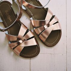 New shoes, saltwater sandals