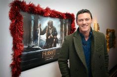 Luke Evans in Atelier Scotch and Peter Scott - The Hobbit: The Battle of the Five Armies Screening, Blackwood http://www.whats-he-wearing.com/2014/12/luke-evans-wears-atelier-scotch-green-coat-and-peter-scott-blue-sweater-hobbit-battle-of-five-armies-blackwood-wales.html?spref=tw