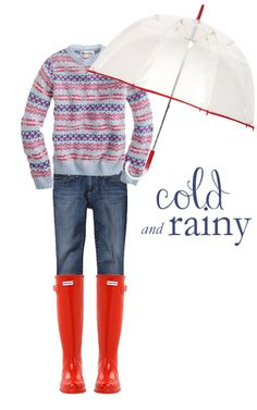 Dress for a cold and rainy day.  Link to blog College Prep: October 2012