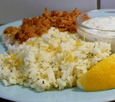"""Lemon Parmesan Minute Rice: """"This rice tastes fantastic and was perfect company for my baked fish, but I think it would be equally 'at home' with chicken piccata, grilled or roasted chicken, grilled shrimp...so many things."""" -twissis"""