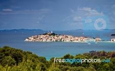 Mediterranean Town of Primosten in Croatia