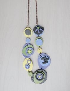 Necklace   #polymerclay #fimo #handmade #madeinslovenia #necklace #pastels