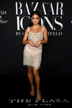 """Vanessa Hudgens & Zendaya Show Their Style at Harper's Bazaar Icons Party!: Photo Vanessa Hudgens shimmered in a sheer dress while stepping out for the Harper's Bazaar Celebrates """"ICONS By Carine Roitfeld"""" Event! The actress… Estilo Vanessa Hudgens, Vanessa Hudgens Style, Selfies, Vanessa Rose, Carine Roitfeld, Victoria Dress, Celebrity Look, Red Carpet Dresses, Harpers Bazaar"""
