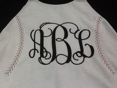 Baseball shirt, monogrammed baseball shirt, softball shirt on Etsy, $21.00