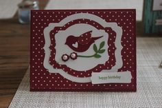 Stampin' Up! Birthday Card using the Bird Punch.