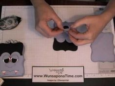 In this video I will show you how to make this Dracula treat box. This design is not my own and I cannot find the original designer so if you're out there an...