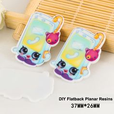 50pcs New Kawaii Cartoon Shopkins Mobile Phone Flatback Resins DIY Crafts Planar Resin for Home Decoration Accessories DL-474
