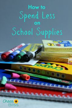 Follow these money saving tips and learn how to spend less on school supplies!
