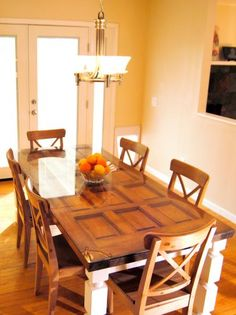 Build a table from an old door and posts! Build a table from an old door and posts! Build a table from an old door and posts! Old Door Projects, Furniture Projects, Diy Furniture, Diy Projects, Modular Furniture, Furniture Plans, Repurposed Furniture, Vintage Furniture, Repurposed Doors