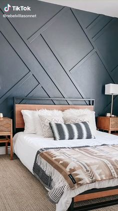 Bedroom Wall Designs, Accent Wall Bedroom, Room Ideas Bedroom, Wood Bedroom Wall, Wood Accent Walls, Wall Wood, Bedroom Wall Ideas For Adults, Bedrooms With Accent Walls, Paint Ideas For Bedroom