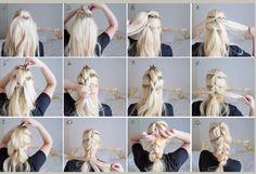 How to Pull Through Braid for Long Thick Hair Plaits Hairstyles, Fast Hairstyles, Hair Styles 2016, Curly Hair Styles, Pull Through Braid, Cool Braids, Stylish Hair, Hair Dos, Hair Beauty