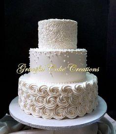 Cream Wedding Cakes, Wedding Cake Pearls, Burgundy Wedding Cake, Ivory Wedding Cake, Wedding Cake Prices, Wedding Cake Flavors, Wedding Cake Rustic, Wedding Cakes With Cupcakes, Elegant Wedding Cakes