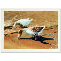 """William Nelson """"Geese"""" Limited Edition Serigraph Hand Signed by The Artist 