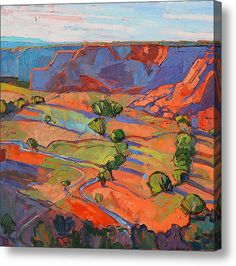 Patterns In Triptych - Center Panel Acrylic Print By Erin Hanson