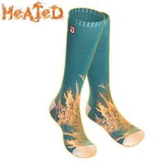 e012467f55 Men Women Electric Heated Socks,Rechargeable Battery Operated Heating Sox  Kit,Embroidered Thermal Cotton Socks,Soft Winter Heat Insulated  Stockings,Novelty ...