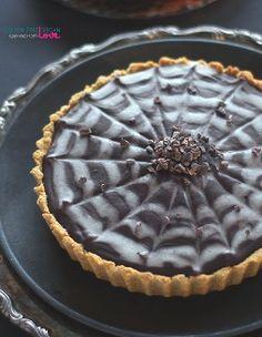 Chocolate Pumpkin Tart - Dairy-free, Gluten-free, Paleo, Vegan