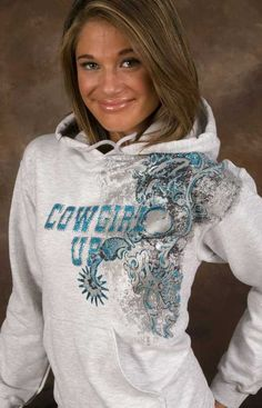 Cowgirl Up Hoodies : CowboyTzz, Home to Everything Cowboy Up! Country Girls Outfits, Country Girl Style, Country Fashion, Cowgirl Outfits, Cowgirl Style, Western Outfits, Western Wear, Cowgirl Tuff, Cowgirl Fashion