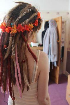 Flower headband and dreadlocks go together like PB&J. -hella good
