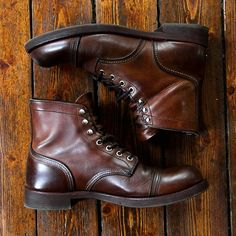 The Best Men's Shoes And Footwear : tanker boots // gotta have a solid pair of boots you can dress up -Read More – Me Too Shoes, Men's Shoes, Shoe Boots, Dress Shoes, Men Boots, Mens Work Boots, Mens Brown Boots, Wing Shoes, Combat Boots