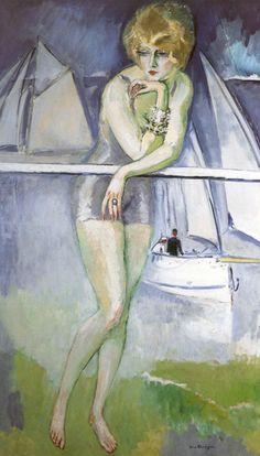 Kees van Dongen (Dutch, French 1877–1968) [Fauvism] Baigneuse en Deauville, 1920.