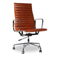 silla oficina replica eames Premium Edition marrón   Tiendas On