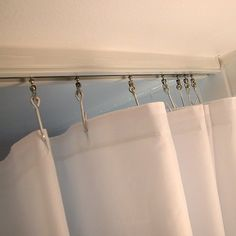 Recessed shower curtain track system curtain designs