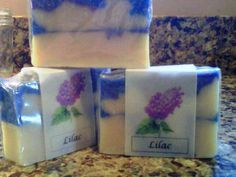 Lilac soap available at https://squareup.com/market/karens-soaps or check out Karen's Soaps & More on Facebook