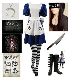 """""""'Alice Madness Returns' cosplay"""" by katlanacross ❤ liked on Polyvore featuring cosplay and AliceMadnessReturns"""