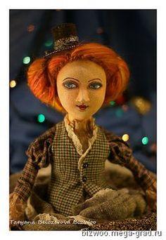 Будуарная кукла Элис - текстильные и тканые изделия, авторская коллекционная кукла. МегаГрад - online выставка-продажа авторской ручной работы