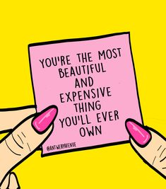 You're the most beautiful & expensive thing you'll ever own. Spend your time wisely, be careful with who you give your energy and yourself to, darling. - Quote by & quick design by - Share in your story if you agree! Babe Quotes, Girl Boss Quotes, Self Love Quotes, Quotes To Live By, People Quotes, Lyric Quotes, Movie Quotes, Quotes Quotes, Positive Quotes
