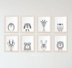 Deer print - Monochrome nursery decor - Black and white nursery prints - Nursery printable art - Nursery Animal prints Nursery Paintings, Nursery Prints, Nursery Wall Art, Nursery Decor, Nursery Rugs, Nursery Ideas, Room Decor, Zebra Nursery, Babies Rooms